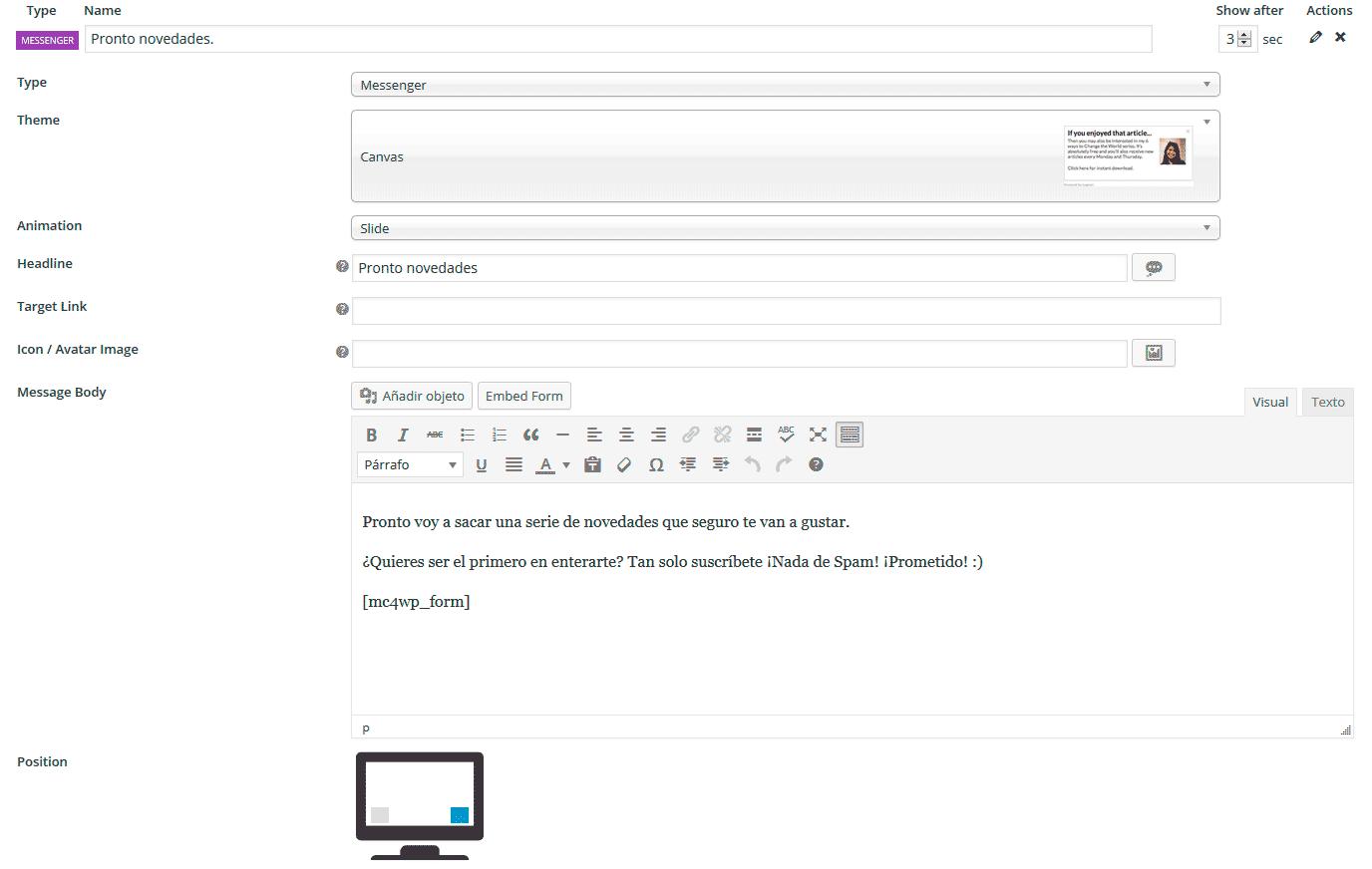 popup wordpress gratis