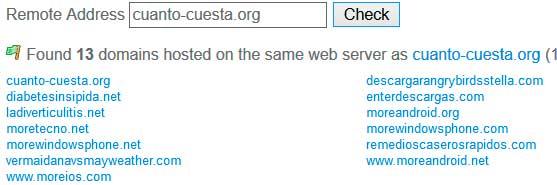 sacar mas webs de un servidor